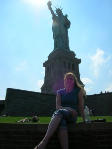 Jess and the Statue of Liberty