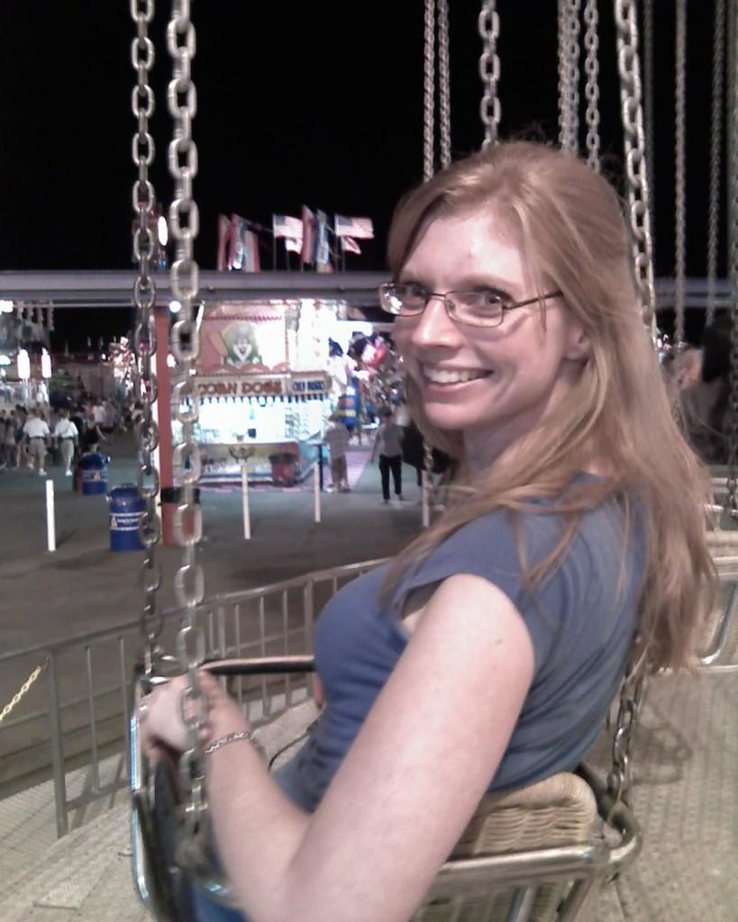 Jess on the swings