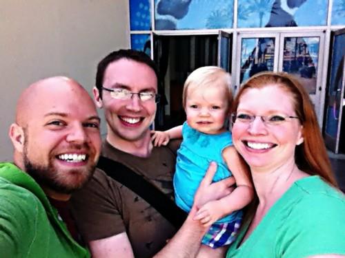 josh and us at aquarium of the pacific