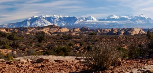La Sal Mountains looking South from Arches
