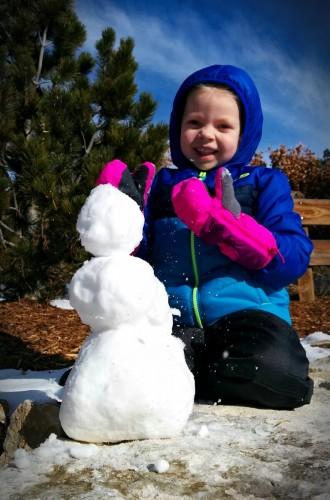 Our mini snowman